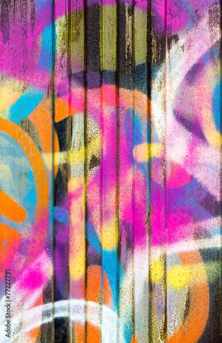 Leinwanddruck Bild Colorful graffiti