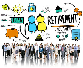 Business People Employee Retirement Vision Aspiration Concept