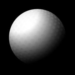 golf ball black