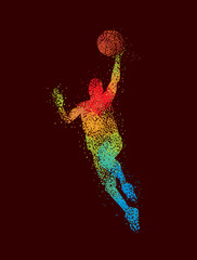 Basketball Art 2 Dark