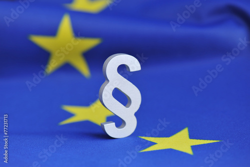 Leinwanddruck Bild Paragraph, Europarecht, EU, Euro, Europäischer Gerichtshof