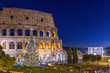 Colosseum in Rome at Christmas during sunset, Italy - 77232158