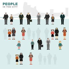People in the city