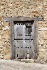 Rustic old wooden door