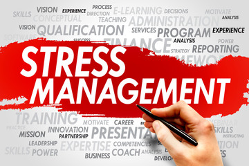 Stress Management word cloud, business concept