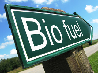 BIO FUEL road sign
