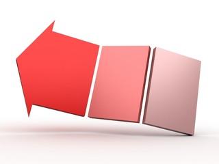 colour 3D arrows