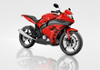 Motorcycle Motorbike Bike Riding Rider Contemporary Red Concept - 77233359