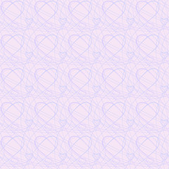Abstract seamless background with hearts on pink