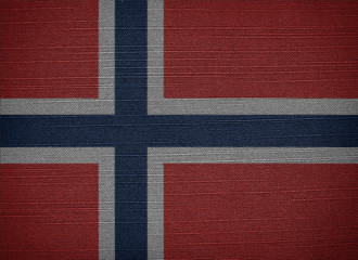 The Kingdom of Norway fabric flags