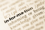 Dictionary definition of word information