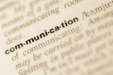 Dictionary definition of word communication