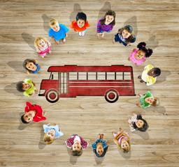 Multiethnic Group Children Back to School Concept