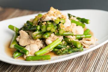 Garlic Chicken and Asparagus