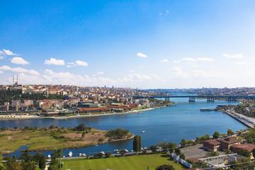 Bridge through The Golden Horn in Istanbul