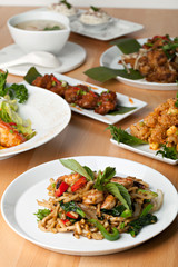 Variety of Thai Food Dishes