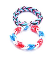 Colorful rubber bracelets