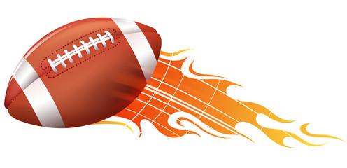 american football fire