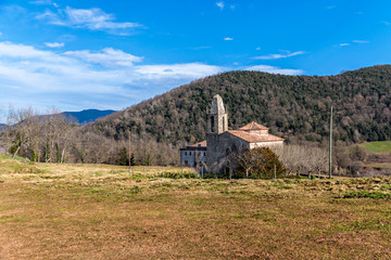 Romanesque church in La Garrotxa, Catalonia