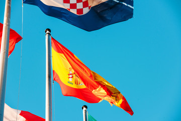 Portugal National flag waving i