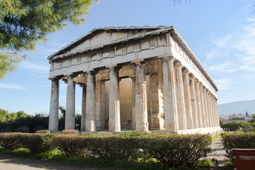 Greek temple in Athens
