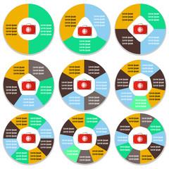 Set of circular medical infographic templates