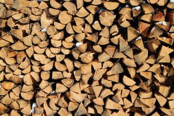gestapelte Holzscheitel