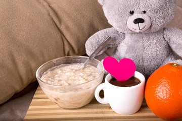 Breakfast in bed with love