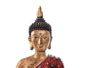 Buddha Kopf isoliert auf Weiß