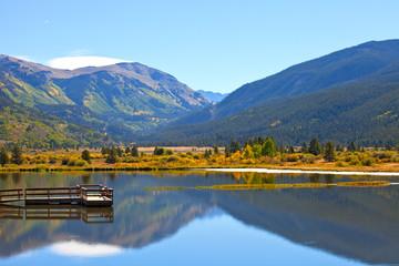 Landscape panorama of beautiful mountain nature
