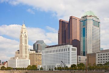 Columbus Ohio USA, skyline of business buildings