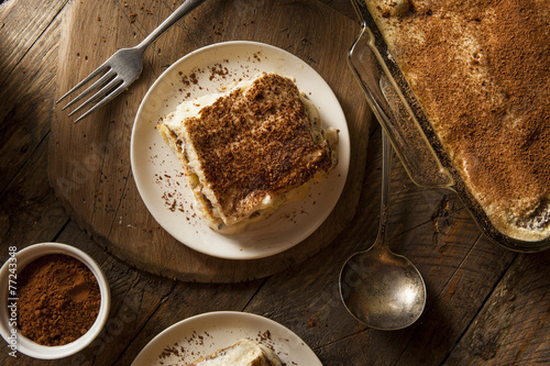 Homemade Tiramisu for Dessert - 77243348