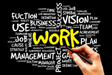 WORK word cloud, business concept