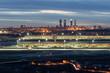 Leinwanddruck Bild - Madrid-Barajas Airport during night