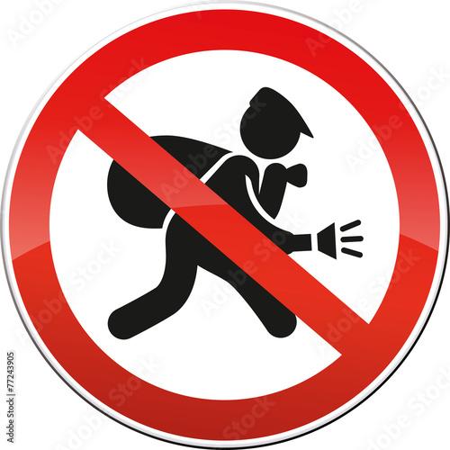 Schild Einbrecher Sicherheit - 77243905