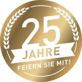 Fototapety Button 25 Jahre Gold
