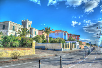 Alghero seafront in hdr tone mapping