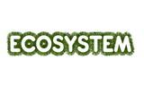 Title Ecosystem with Grass Arround poster