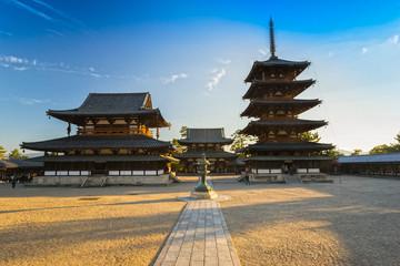 Horyu-ji Temple in Nara, Japan