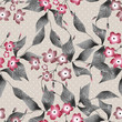 Seamless floral retro pattern background flowers ornament textil