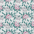 Seamless floral retro pattern background flowers wallpaper texti