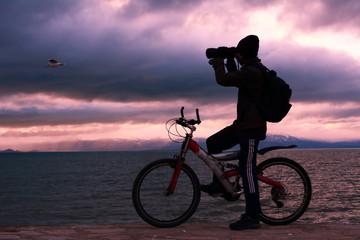 bisiklet gezintisi ve kuş gözlemciliği