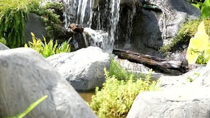 Mini garden waterfall decoration