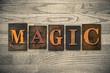 Magic Wooden Letterpress Concept