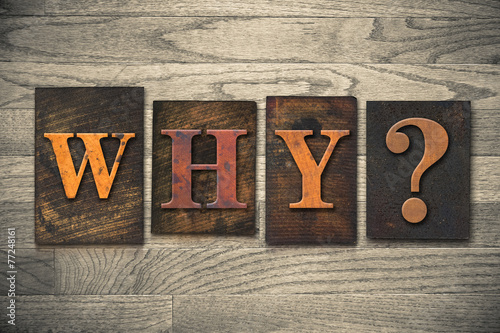 Why Wooden Letterpress Concept - 77248161