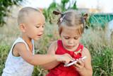 children playing phone