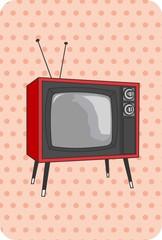 TV antiga, retro, vintage