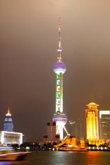Shanghai Pearl Tower At Night