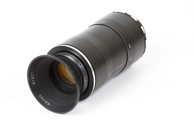 Old lens, the isolated image
