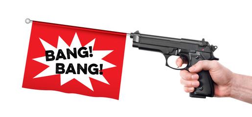 Hand gun prank